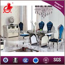 2014 Luxury mirrored modern dinning table dinner set