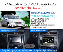 LSQ Star Android 4.0 Car Dvd Players Dealer Special For Mercedes-benz C-class W203 With Gps Canbus Bt Radio