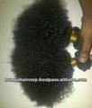 curtos e encaracolados brasileira extensões de cabelo