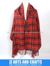 England classic big tartan cashmere pashmina scarf