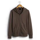 hot selling blank brown sweatshirt custom zipper hoodie