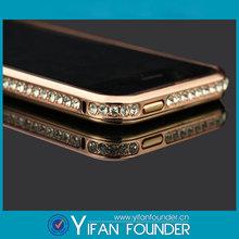 New Arrival Screwless Bling Crystal Diamond Bumper Case For Iphone 5, For iphone5s diamond bumper case
