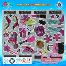 2014 OEM excellent performance cosmetic label sticker for cosmetic packaging
