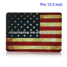 For Macbook pro case 13.3inch,Retro American Flag Plastic Hard Shell for MacBook Pro 13.3 inch CASE