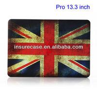 Plastic case for Macbook Pro 13.3,Vintage UK National Flag Plastic Case for MacBook Pro 13.3 inch