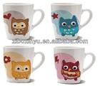 12 oz white ceramic coffee mug for promotion