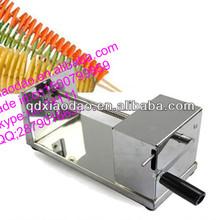 automatic electirc spiral potato cutter/potato twister/spiral potato chip cutter