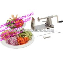 automatic electirc spiral potato cutter/sweet potato chips cutter/spiral potato chip cutter
