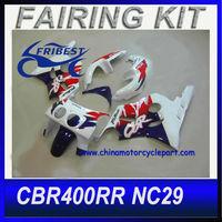 For cbr400rr fairing NC29 Blue White Motorcycle Fairing Kit
