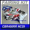 For Honda cbr400rr fairing NC29 Dark Blue White Motorcycle Fairing Kit