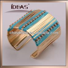 2014 most popular cotton wrap with diamond bracelet