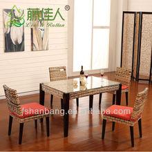 Super Modern High Quality Wood Base Wicker Furniture