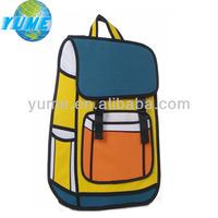 2014 Teens Unique School Bags 3d Cartoon School Bag