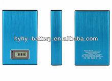 7800mAh Metal case Dual USB Power Bank Blue Silver Golden