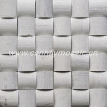 50*50mm Grey Wood-grain Mosaics Tile