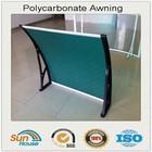 Polycarbonate window instruction awning mechanism