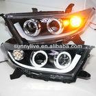 2011-2013 Year Kluger Highlander LED Angel Eyes Headlight LED Turn lights