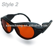 laser machine operator protective goggles/ IPL Laser Safety Glasses/PC Eye laser protective goggles with OD +5 +4