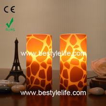 fashion giraffe water sticker LED candle