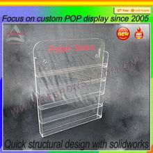 Wall mounted acrylic cosmetic makeup organizer holder POP custom wall mounted acrylic cosmetic makeup organizer holder