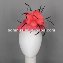 Somnus Fashion Ladies' sinamay fascinator with feathers