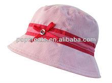 Stripe red baby bucket hat