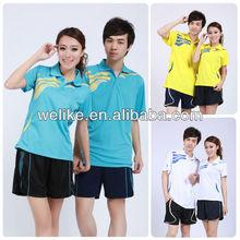 Latest men polo jersey badminton t-shirt design cheap badminton set