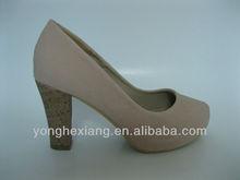 Trendy lady shoes high heels pumps