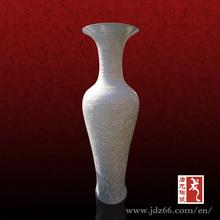 Ceramic Reactive Item Art and craft white porcelain floor vases