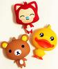 Ali,Rilakkuma,rubber ducky Cute cartoon flavor soft silicone coin bag purse pendant /Candy colors silicon pochi bags
