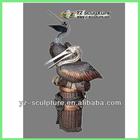 Outdoor Garden Bronze Pelicans Fountains GBF-B029V