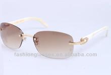 white horn temple optical eyewear frame, horn reading sunglasses, brand horn eyewear MN210-1
