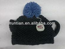 100% Acrylic Boy Crochet Handknitted Creative Cup Hat