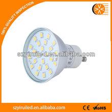 gu10 12v osram led spotlight ,led spotlight 528lm 24pcs 4.5w 22lm/pcs smd2835 offered for your unique design