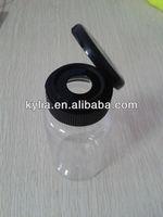 Clear plastic pill bottles with flip top cap 150cc