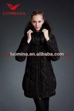 Popular older fashion coat/big fur collar women coat