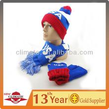 USA 2014 WINTER OLYMPIC KNITTING HAT, SCARF, GLOVE SET