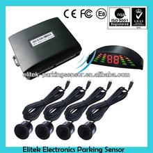 Wireless Black 4 Parking Sensors LED Car Reverse Backup Radar