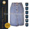 Largo azul jean faldas para las mujeres ktj-016