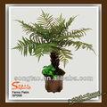 Samambaias artificial palmeira para decoração, artesanato com folhas de palmeira