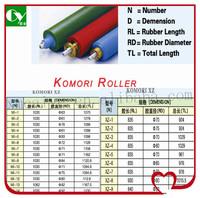 printing machine parts rubber roller for Komori XZ