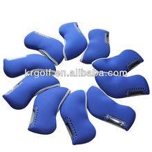 10pcs/set Golf Club Irons Head Covers Cobalt color Neopene Headcovers