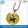 Round shape star epoxy dog tags
