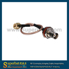 BNC female nut bulkhead to SMA male RG316 15cm connect jumper cables