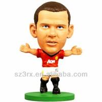 Miniature football player figurine toy/OEM plastic football kicker toy