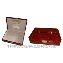 Elegant color red fodable big lots jewelry box