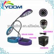Bright 8 leds flexible arm YMC-L03 2014 low energy consumption rechargeable portable led table lamps office