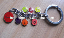 custom metal keychains, colorful pendant keyrings