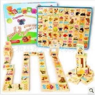 Ahşap eğitici domino taşları oyuncak seti 26 harf numaraları ve
