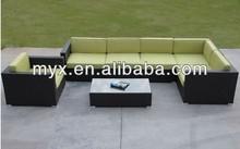 Hot sale sofa wicker rattan furniture garden cheap outdoor wicker furniture rattan sofa